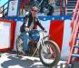Al on Samantha\'s Bike at Wall of Death at Sturgis 2004